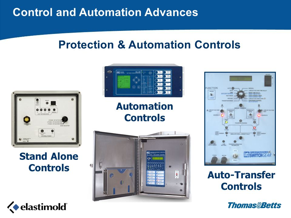 Stand Alone Controls Automation Controls Auto-Transfer Controls Control and Automation Advances Protection & Automation Controls
