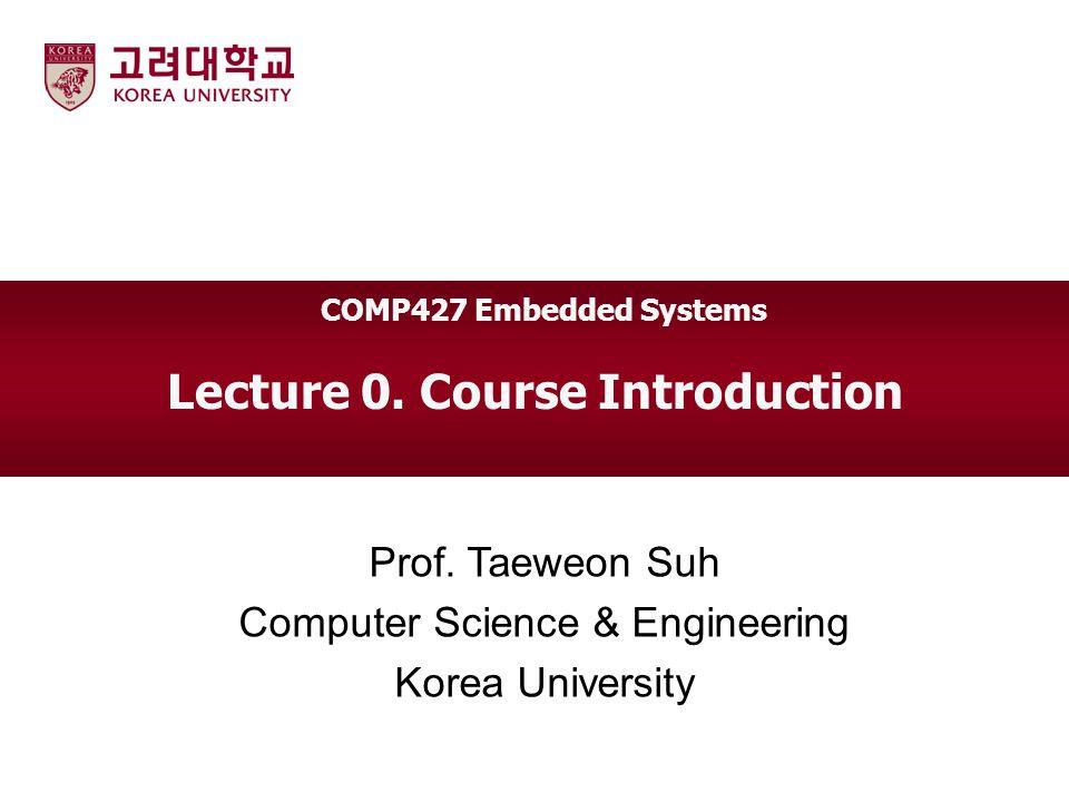 Korea Univ Course Information Instructor  Prof.