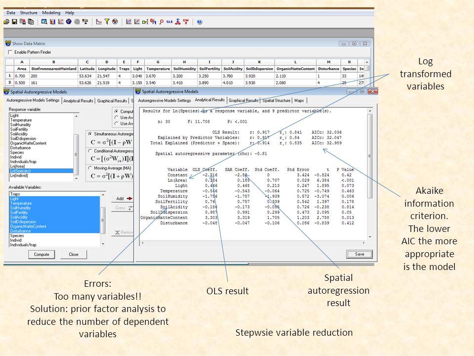 Errors: Too many variables!.