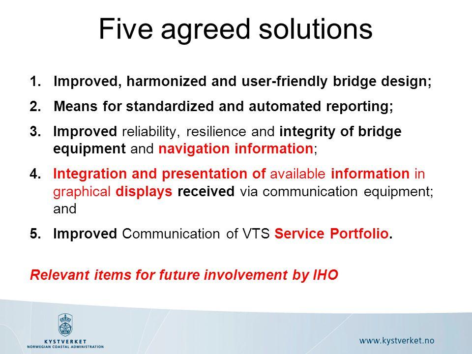1. Improved, harmonized and user-friendly bridge design; 2.