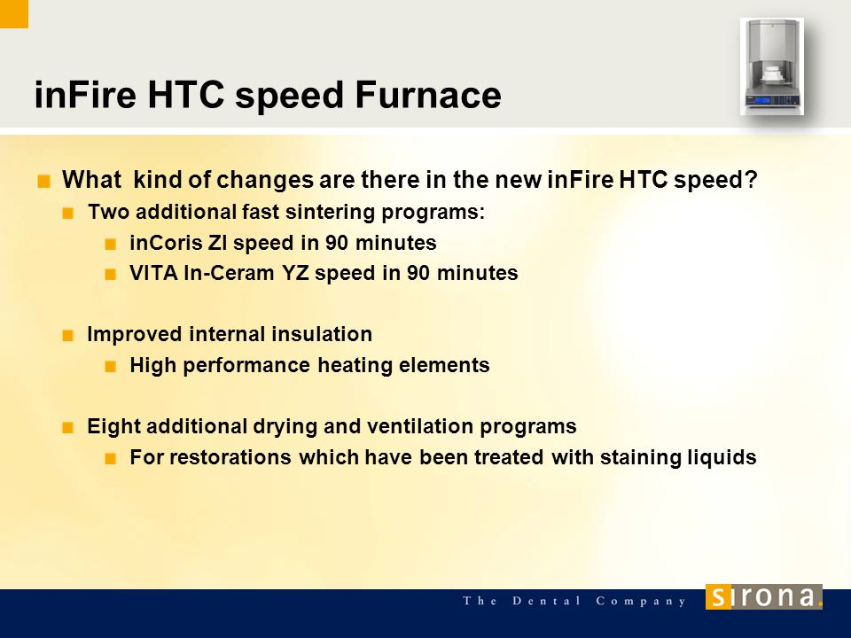 What kind of changes are there in the new inFire HTC speed.