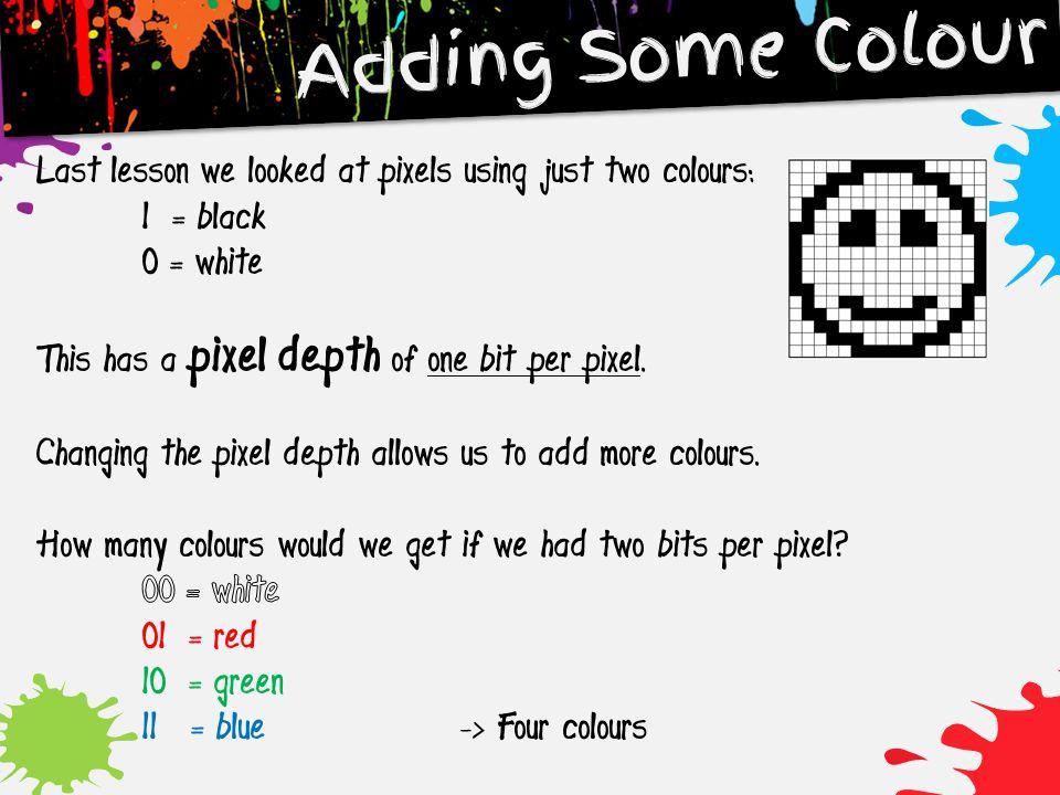 Adding Some Colour