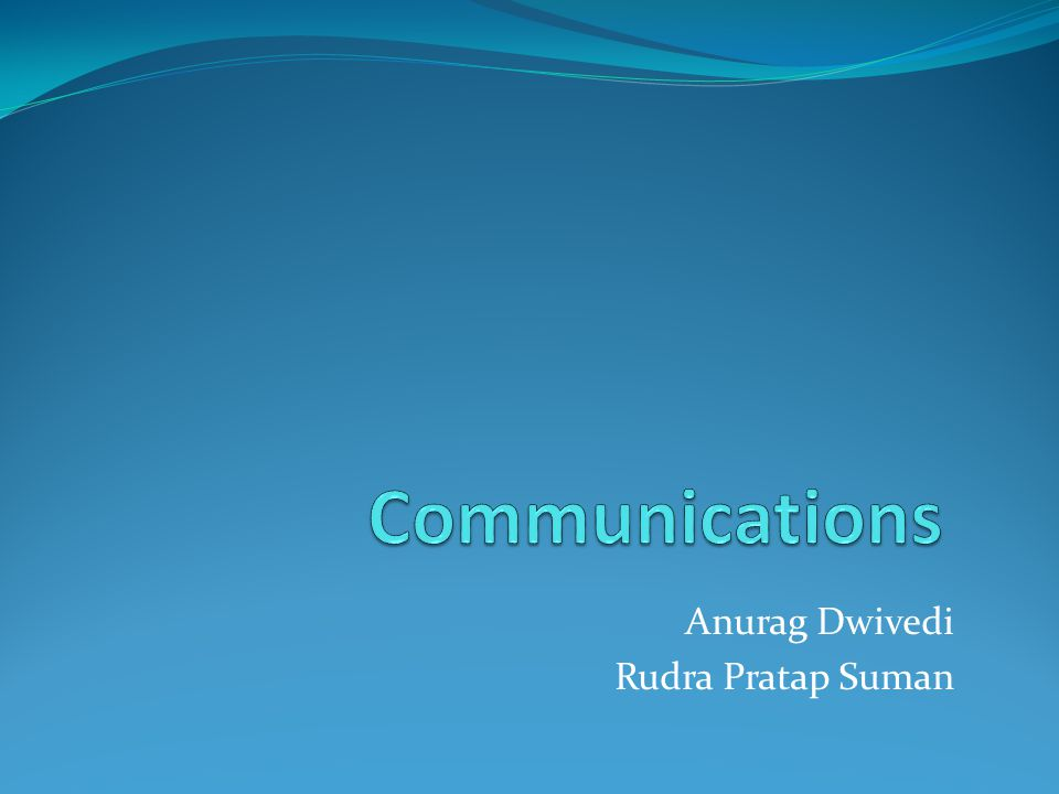 Protocols in Communication In order to have robust communication, the guarantees needs to be realized.