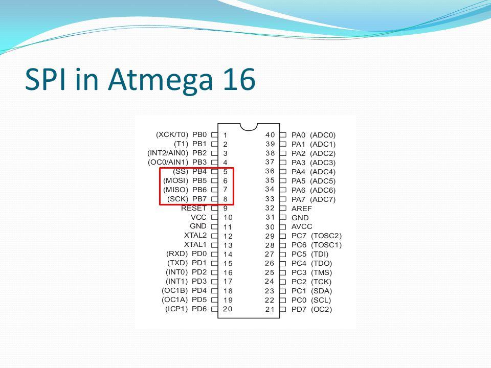 SPI in Atmega 16