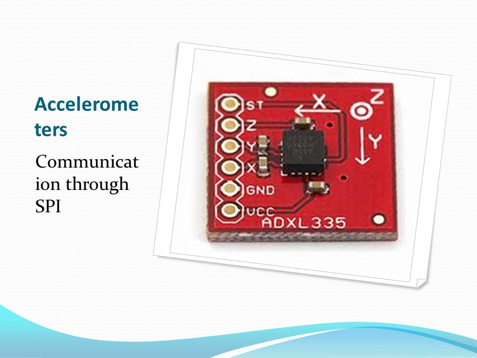 Accelerome ters Communicat ion through SPI