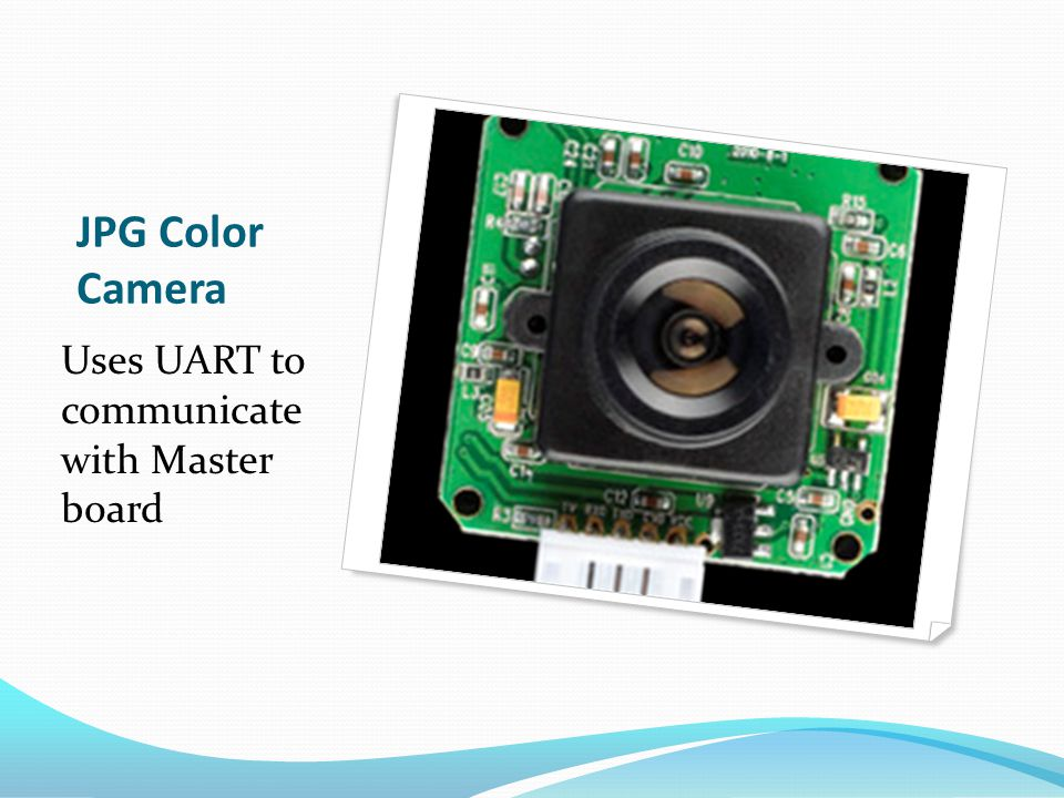 JPG Color Camera Uses UART to communicate with Master board