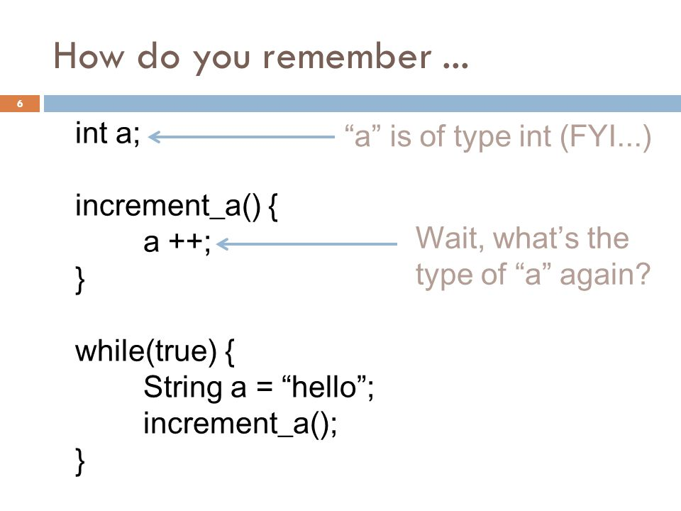 How do you remember...