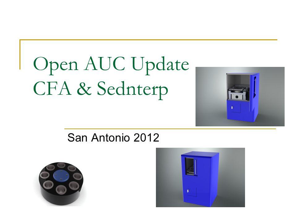 Open AUC Update CFA & Sednterp San Antonio 2012