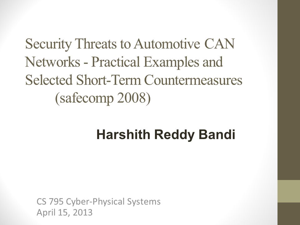 Security Implications: Authenticity and integrity of control commands is violated.