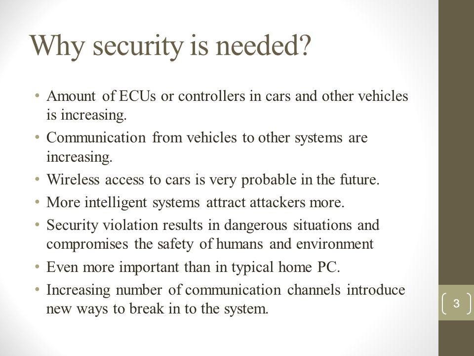 Security Implications: The authenticity of the periodic status messages and of diagnostic reply is violated, since they are not generated by the airbag ECU but by a bogus device.