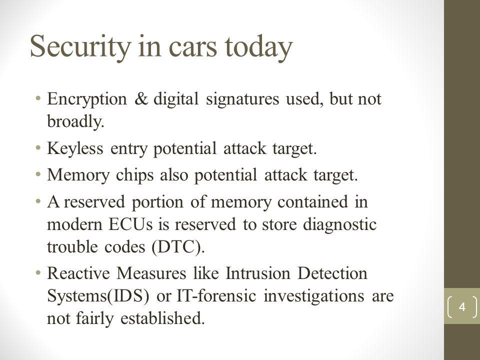 Scenario S4: analyses on the gateway ECU 15