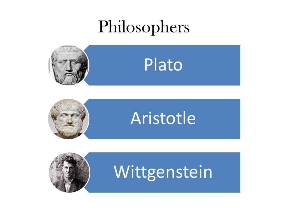 Philosophers Plato Aristotle Wittgenstein