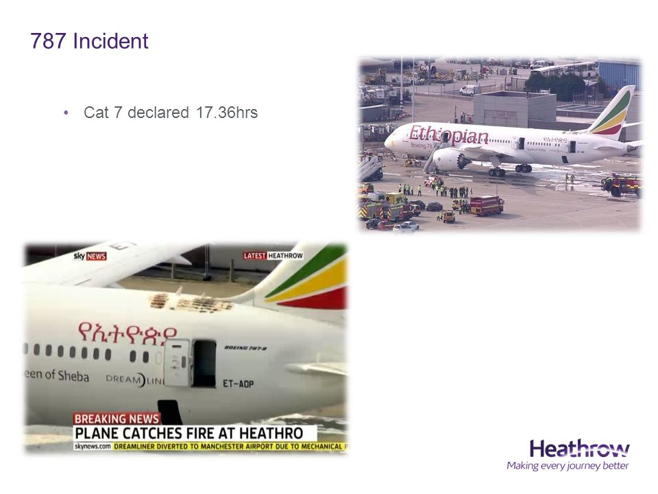 787 Incident Cat 7 declared 17.36hrs