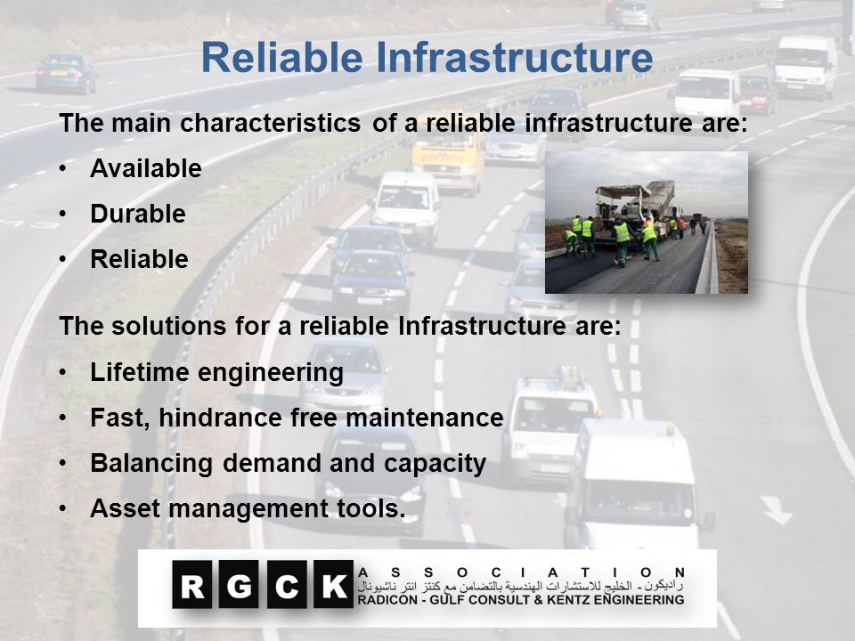 Reliable Infrastructure The main characteristics of a reliable infrastructure are: Available Durable Reliable The solutions for a reliable Infrastruct