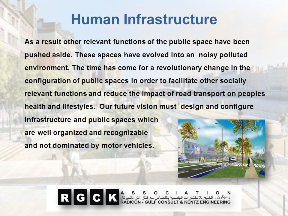 As a result other relevant functions of the public space have been pushed aside. These spaces have evolved into an noisy polluted environment. The tim
