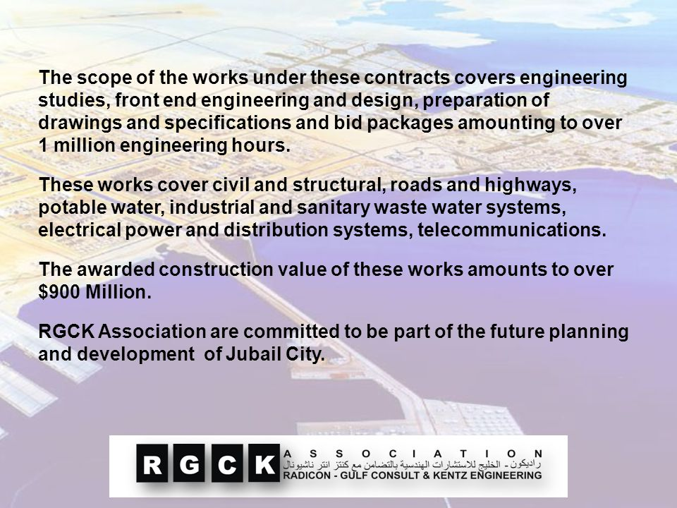 The scope of the works under these contracts covers engineering studies, front end engineering and design, preparation of drawings and specifications