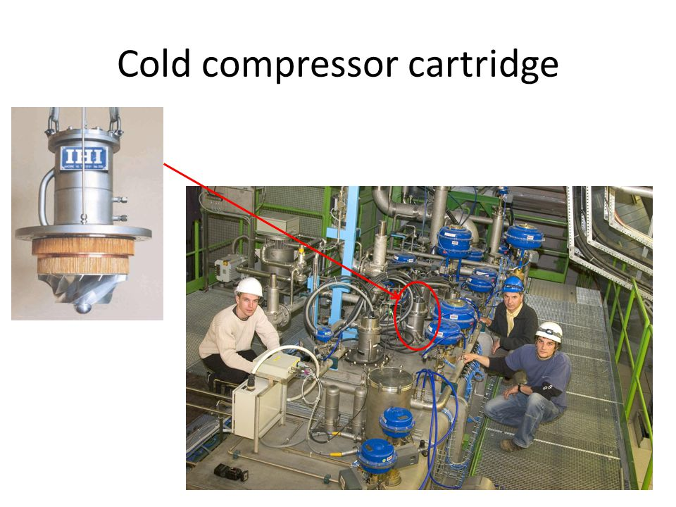 Cold compressor cartridge