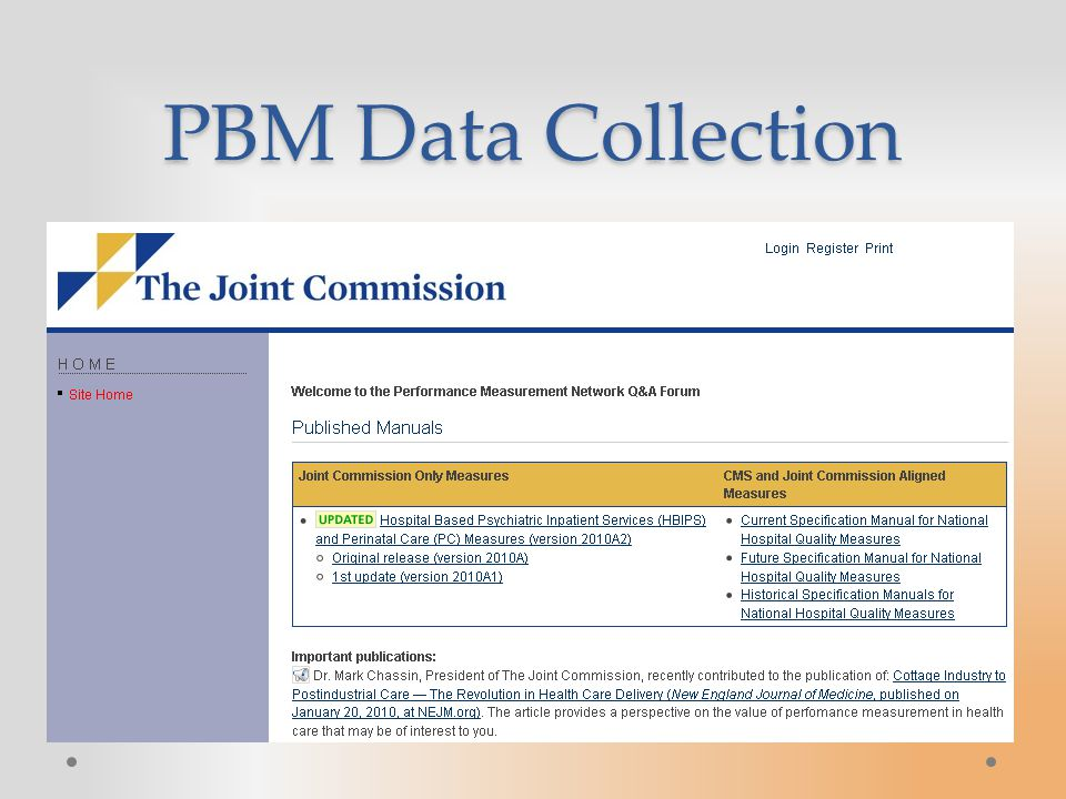 PBM Data Collection