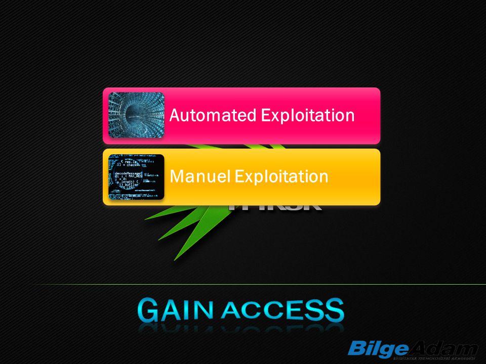 Automated Exploitation Manuel Exploitation