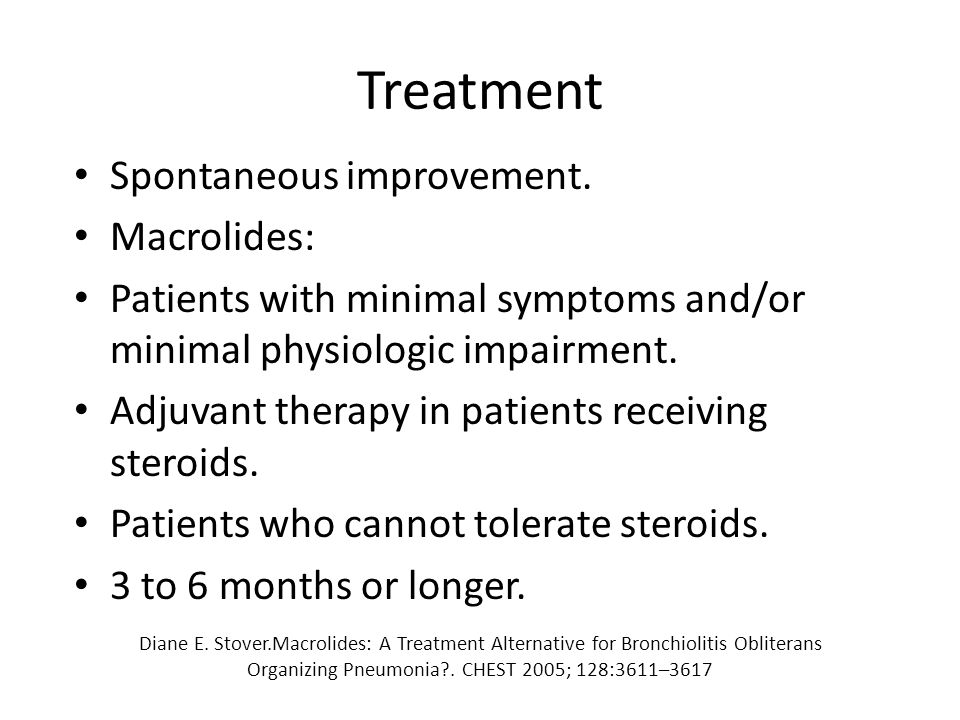 Treatment Spontaneous improvement.