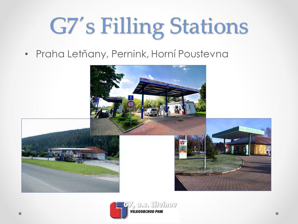 G7´s Filling Stations Praha Letňany, Pernink, Horní Poustevna