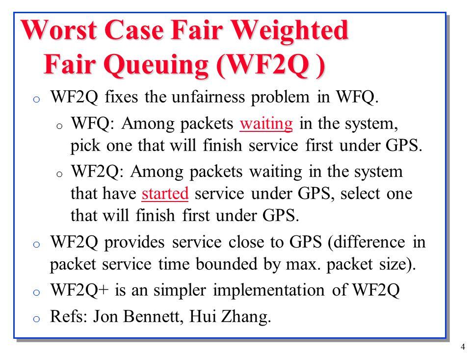 5 WF2Q: Service S1 S2 S3 S4 S5 S6 S7 S8 S9 S10 S11 Time 01020 p 11 1