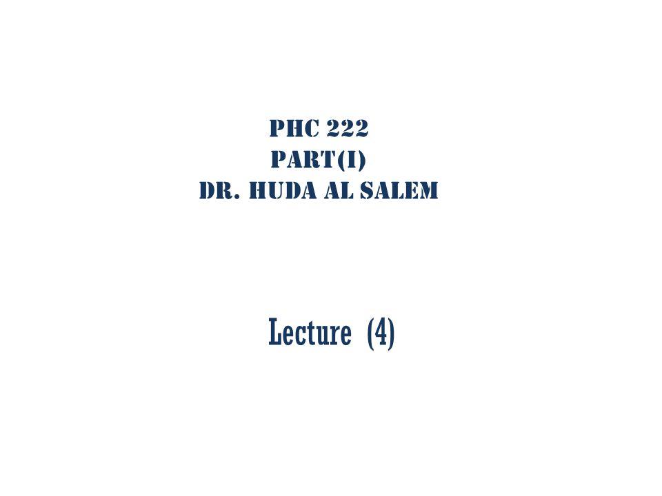 PHC 222 Part(I) Dr. Huda Al Salem Lecture (4)