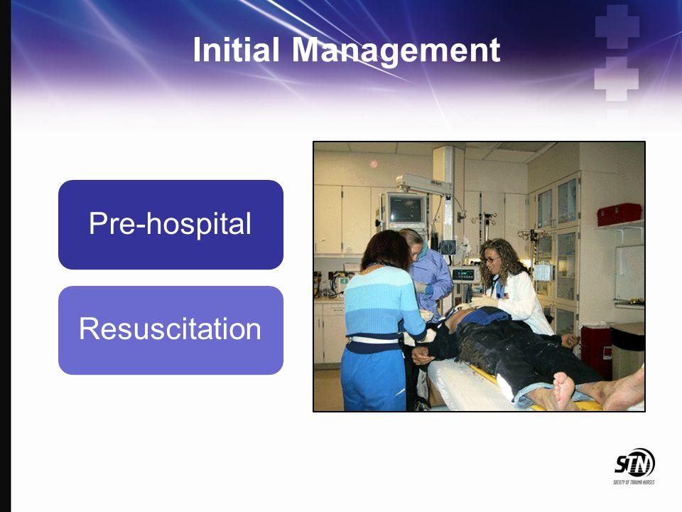 Initial Management Pre-hospital Resuscitation
