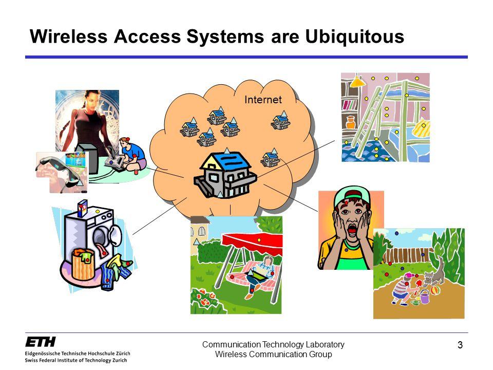 3 Communication Technology Laboratory Wireless Communication Group Wireless Access Systems are Ubiquitous Internet