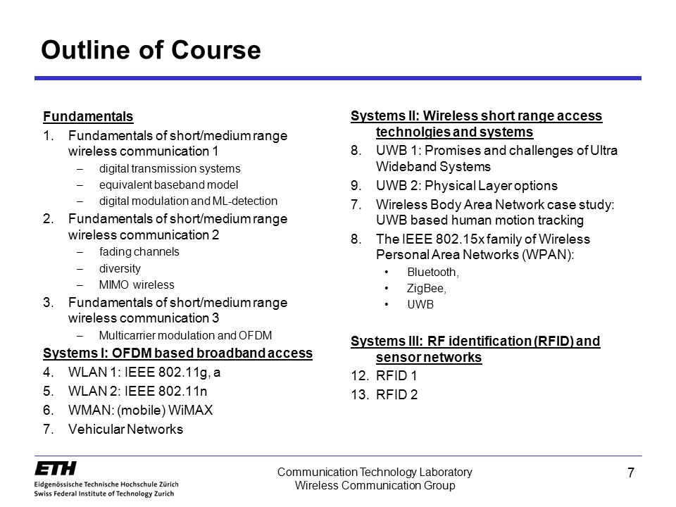 48 Communication Technology Laboratory Wireless Communication Group Frequency-Flat Fading Channel fading channel matched filter Symbol discrete system model with block fading block fading: fading variable instead of fading process note multiplication with magnitude of fading variable due to –channel matched filter –normalization of decision vector