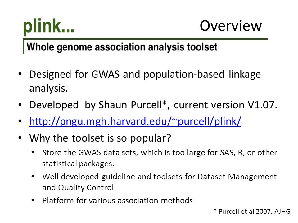 Designed for GWAS and population-based linkage analysis.