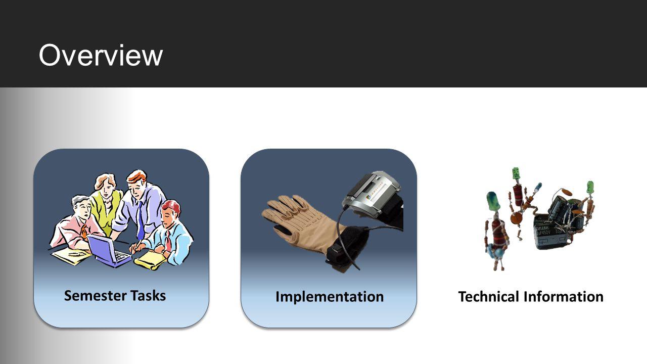 Overview Semester Tasks ImplementationTechnical Information