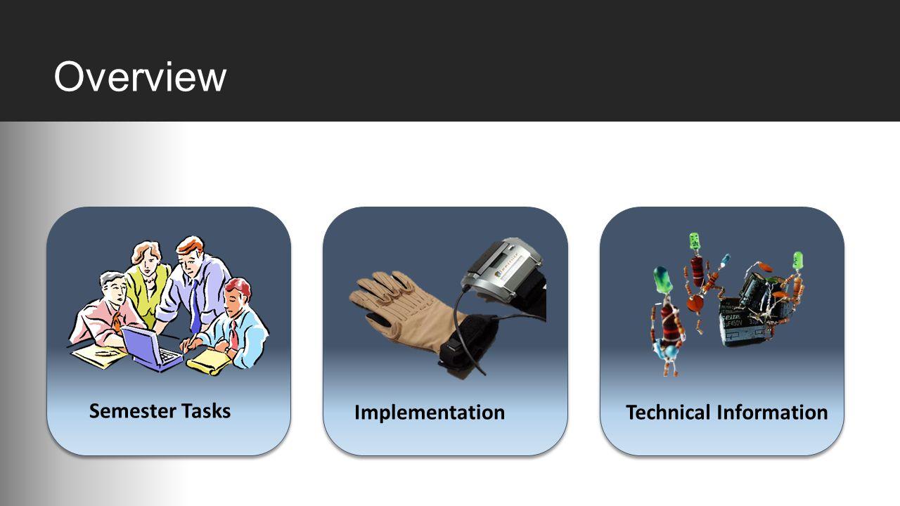 Overview Semester Tasks Technical Information Implementation