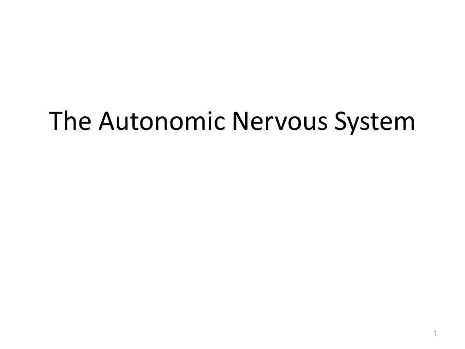 The Autonomic Nervous System 1