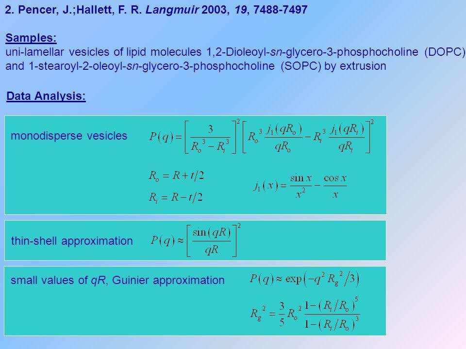 2.Pencer, J.;Hallett, F. R.