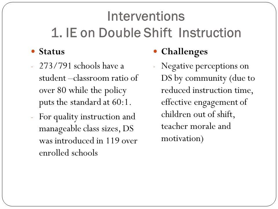 Interventions 1.