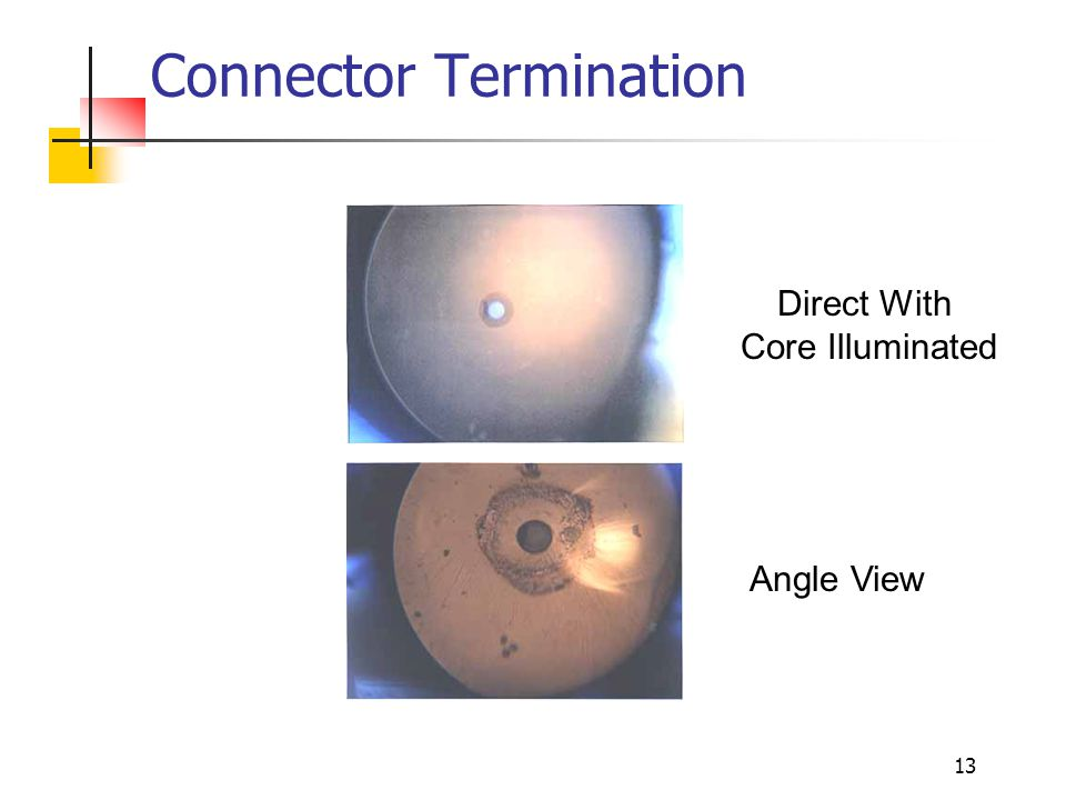 13 Connector Termination Direct With Core Illuminated Angle View