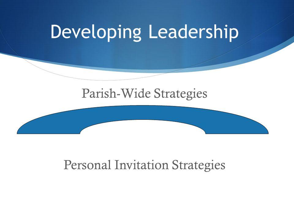 Developing Leadership Parish-Wide Strategies Personal Invitation Strategies