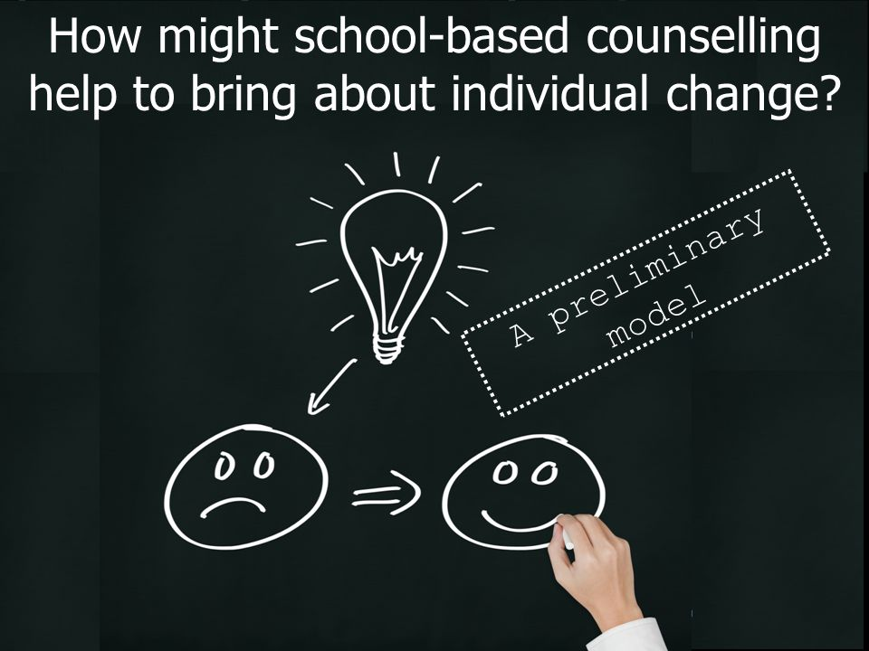 How might school-based counselling help to bring about individual change? A preliminary model