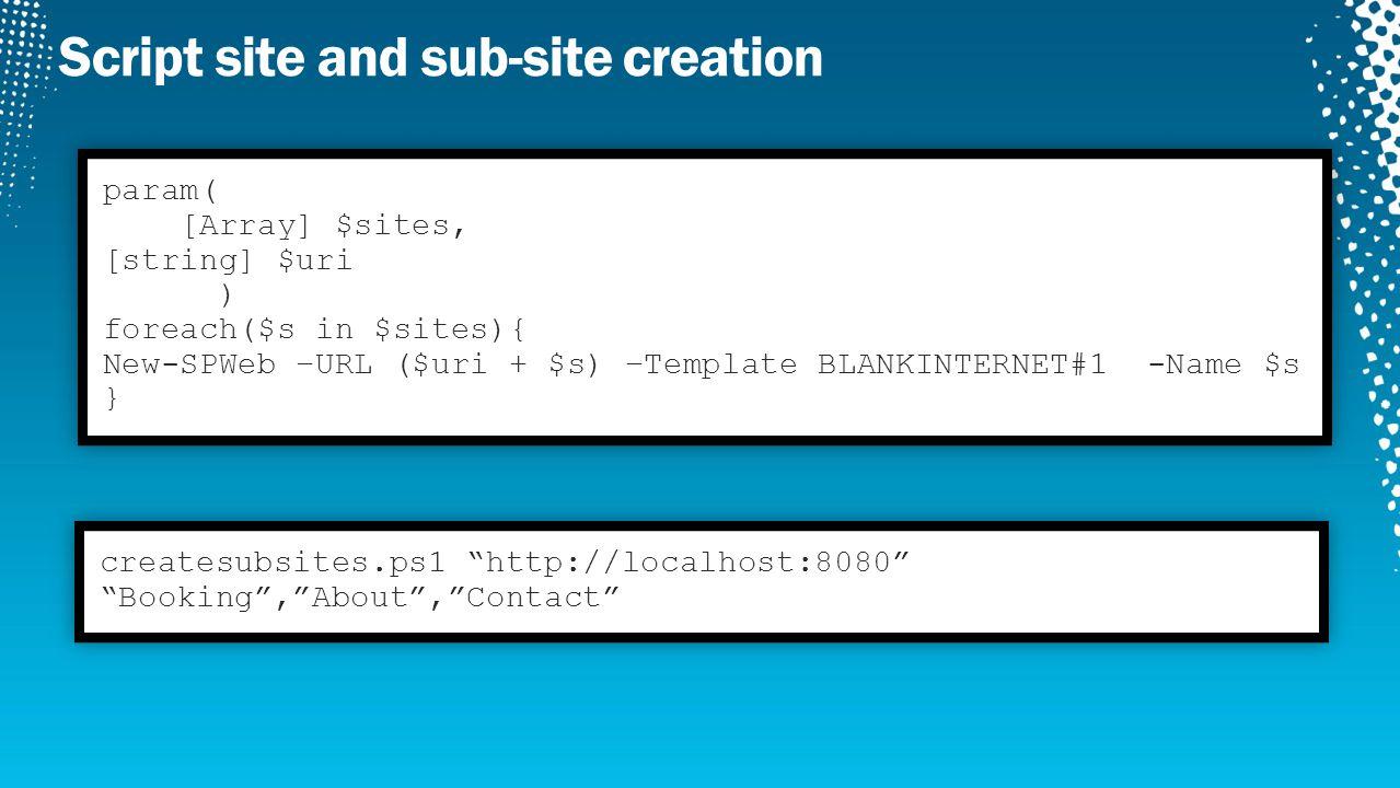 DEMO Create Site Hierarchy
