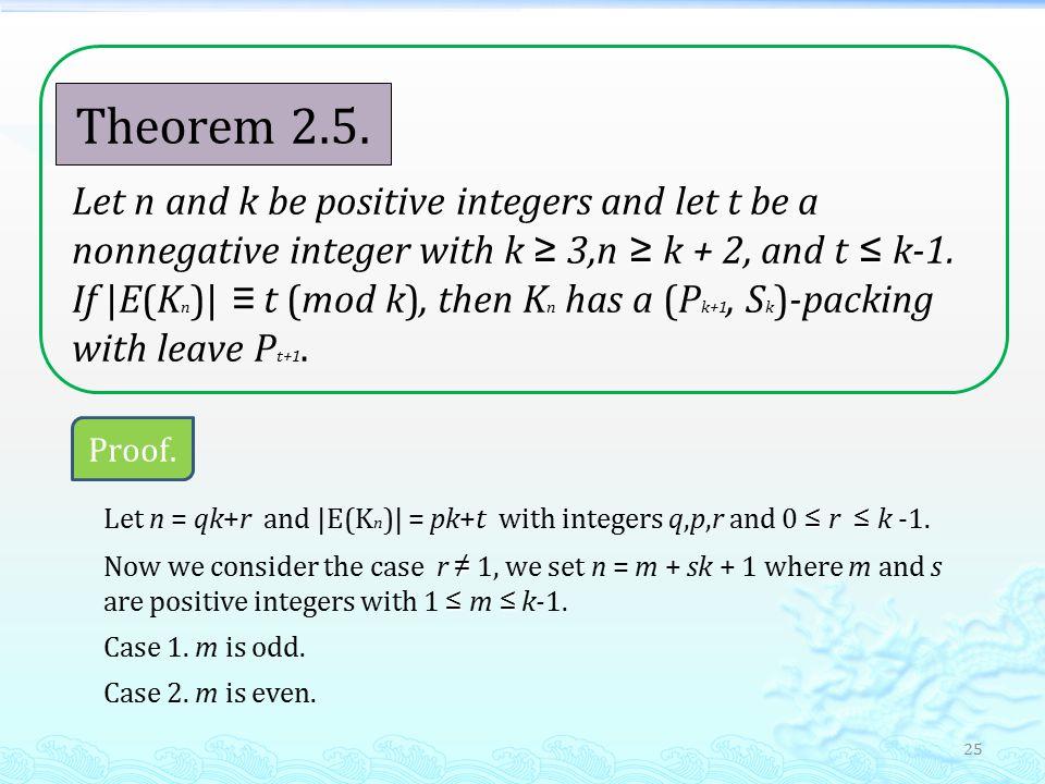 25 Theorem 2.5.