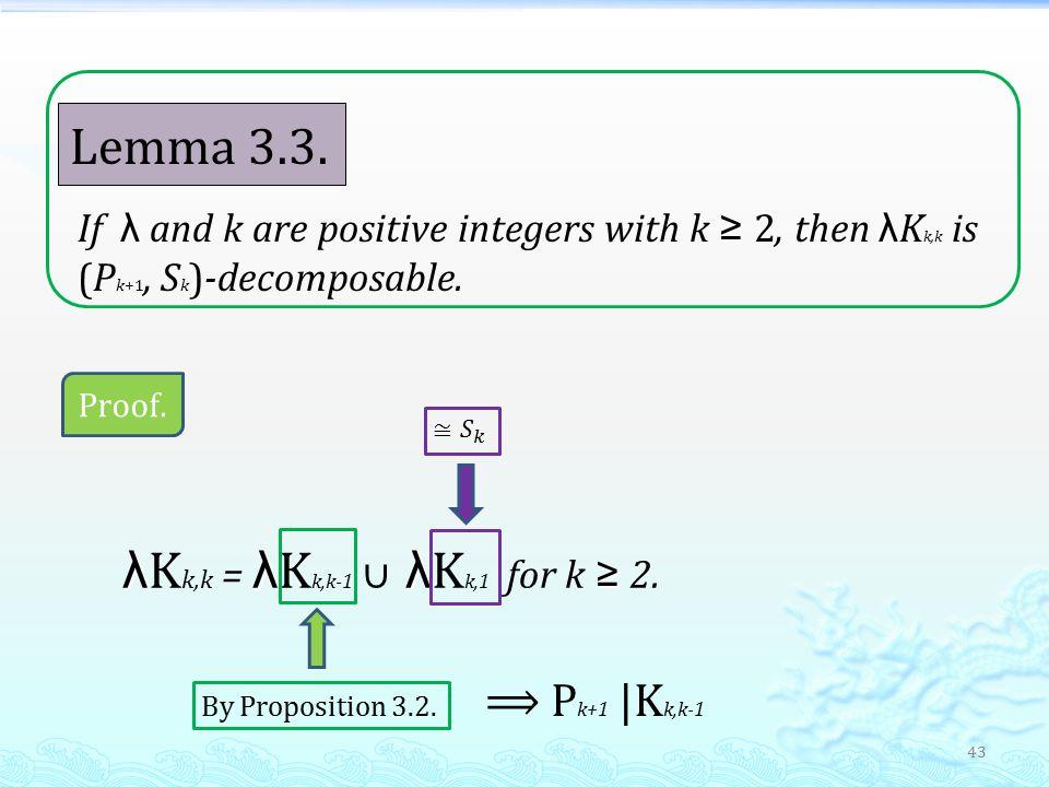 43 Lemma 3.3.