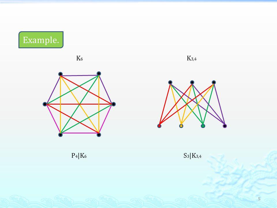 5 Example. P 4 |K 6 K6K6 K 3,4 S 3 |K 3,4