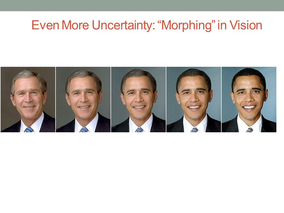 Even More Uncertainty: Morphing in Vision