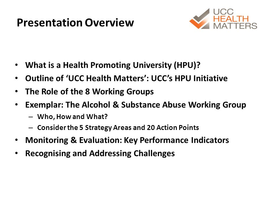 What is a Health Promoting University.