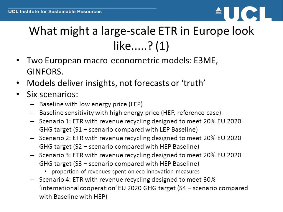 What might a large-scale ETR in Europe look like......