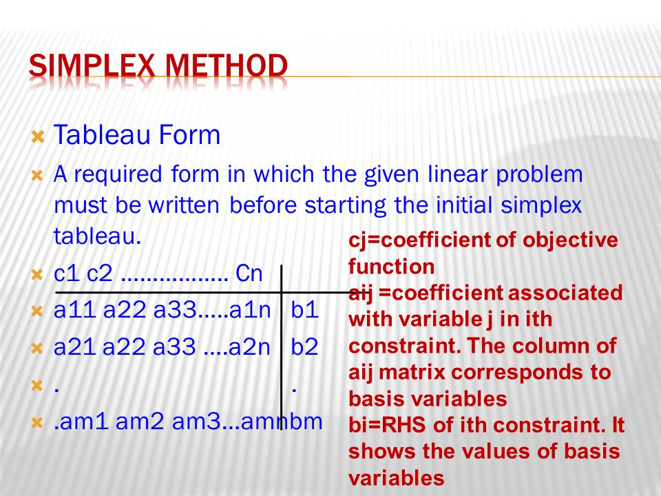  Three different simplex method exist for three different type of constraints.
