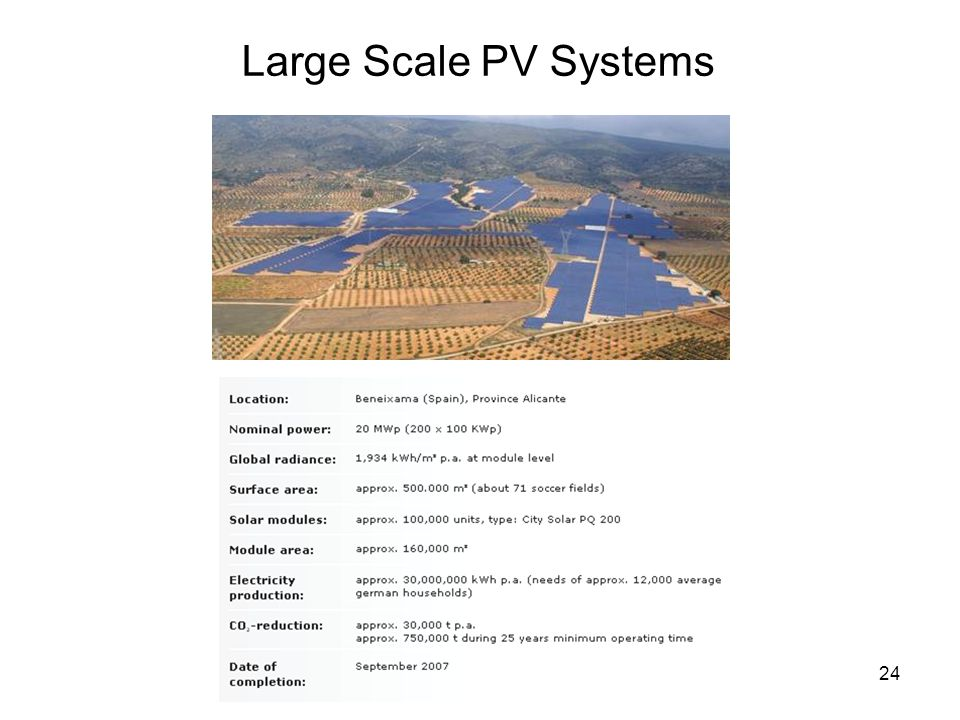 24 Large Scale PV Systems