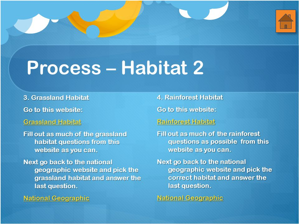 Process – Habitat 2 3.