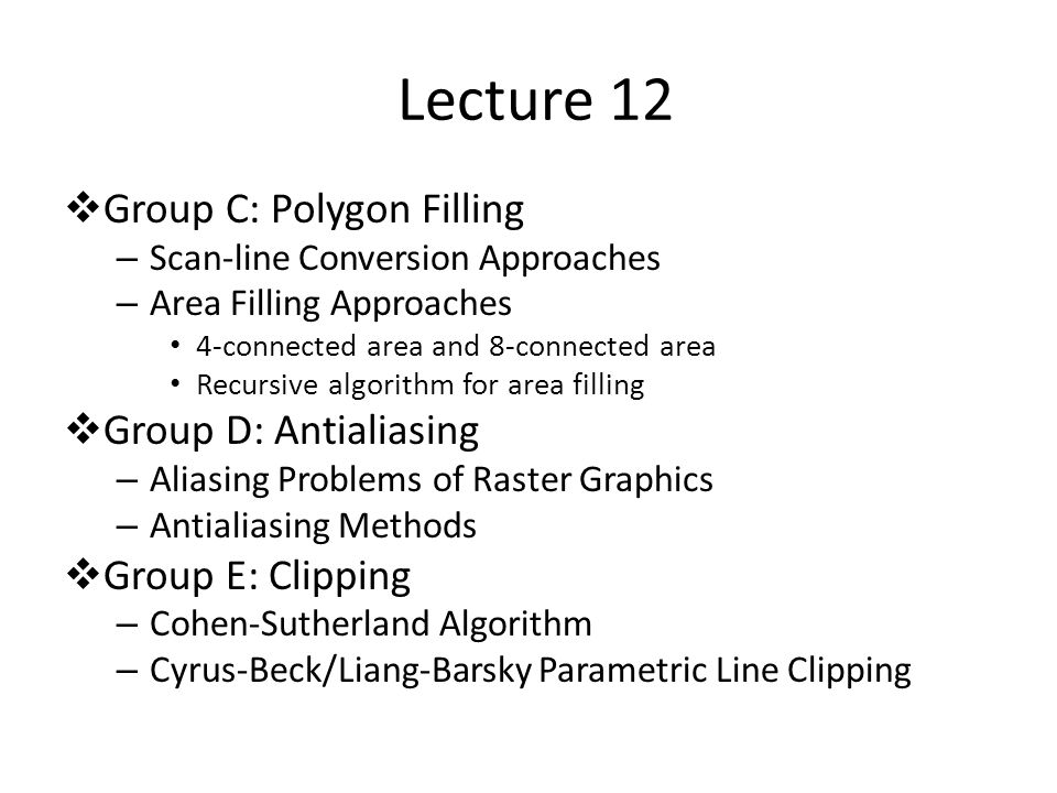Each teaching group: 2-3 people Lecture slides (.PPT) will be online after L8.